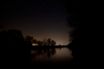 "River ""March"" near Jedenspeigen, Lower Austria, at night"